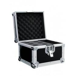 Flightcase negru pentru 6 microfoane, Roadinger 30109891