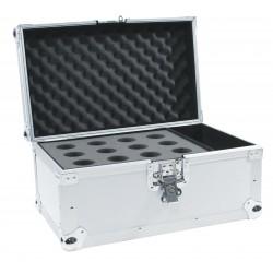 Flightcase argintiu pentru 12 microfoane, Roadinger 30109894