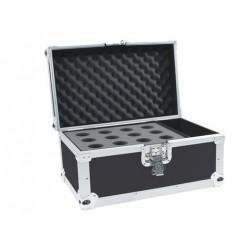 Flightcase negru pentru 12 microfoane, Roadinger 30109895