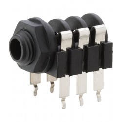 Conector de panou Jack 6.3 stereo Monacor MZT-233