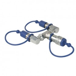 Showtec CO2 3/8 Q-Lock 2-way combiner