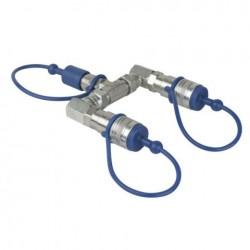 Splitter Showtec CO2 3/8 Q-Lock 2-way splitter