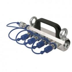 Distribuitor Showtec CO2 3/8 Q-Lock 4-way distribuitor