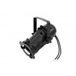 Mini spot PAR-16 cu lampa MR16 si conexiune 12V, negru, Eurolite PAR-16 Spot MR-16 black (50850200)