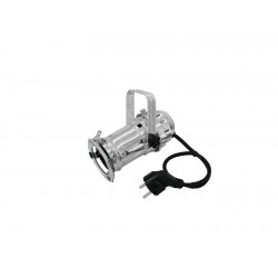 Mini spot PAR-16 cu soclu GU-10, 230V, cromat, Eurolite PAR-16 Spot GU-10 silver (50850340)