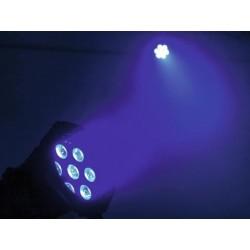 Proiector compact de podea cu LED QCL 7x8W, negru, Eurolite LED ML-30 QCL 7x8W Floor bk (51913652)