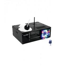 Masina de fum vertical cu iluminare RGB LED si control DMX, Eurolite NSF-250 LED DMX
