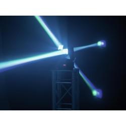 Moving head beam LED cu 2 capete controlabile independent, cu miscari nelimitate PAN si TILT, Eurolite MFX-2