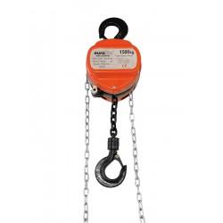 Lant de ridicare (inaltime ridicare 6 m, 1500 Kg/max), portocaliu, Eurolite Chain hoist 6M/1.5T (58000118)