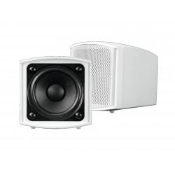 Set 2 boxe de perete 2,5¨, 100V, 15W RMS, albe, Omnitronic OD-2T WHITE (11036903)