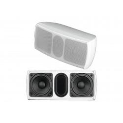 Boxa de perete 2x2,5¨, 100V, 15W RMS, alba, Omnitronic OD-22T WHITE (11036909)