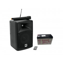 Set sistem portabil PA + baterie, Omnitronic Set WAMS-08BT + Battery (20000018)