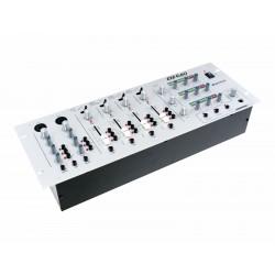 Mixer cu 3 zone, 4 + 2 canale, silver, Omnitronic EM-640 SIL