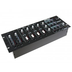 Mixer cu 3 zone, 4 + 2 canale, negru, Omnitronic EM-640 B