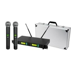 Set microfoane fara fir, 100 m, LCD, Sal MVN 900