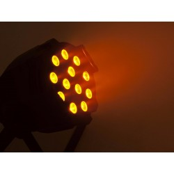 Proiector de podea cu LED 10 W hexacolor, cromat, Eurolite LED ML-56 HCL 12x10W floor sil (51913678)