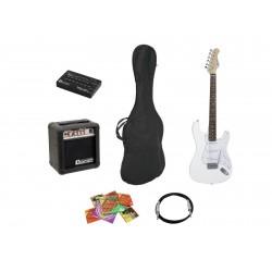 Set chitara electrica pentru incepatori, culoare alba, Dimavery EGS-10X
