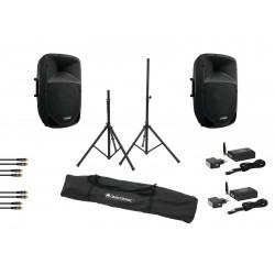 Set VFM-215AP + VFM-215A + WS-1T + WS-1R + Speaker stand MOVE MK2, Omnitronic 20000279