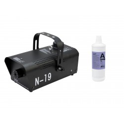 Set N-19 Smoke machine black + A2D Action smoke fluid 1L, Eurolite 20000133