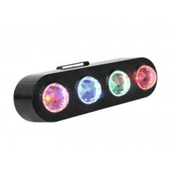Efect lumini flower cu 4 LED-uri RGBA 3W, Eurolite LED CPE-4