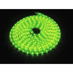 Furtun de lumini cu LED, 9m, verde, Eurolite RUBBERLIGHT LED RL1-230V green 9m (50506230)