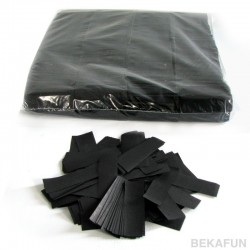 Slowfall confetti rectangles 1 Kg, 55x17mm - Black, MagicFX CON01BL