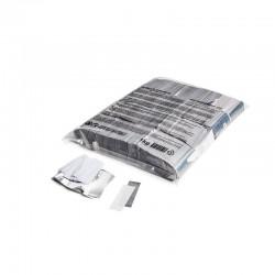 Slowfall confetti rectangles 1 Kg, 55x17mm - White+Silver, MagicFX CON31WS