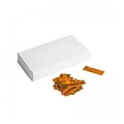 Metallic confetti rectangles 500g, 55x17mm - Orange, MagicFX CON40OR
