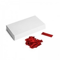 Metallic confetti rectangles 500g, 55x17mm - Red, MagicFX CON40RD