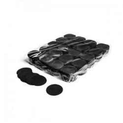 Slowfall confetti rounds 1 kG, Ø 55mm - Black, MagicFX CON02BL