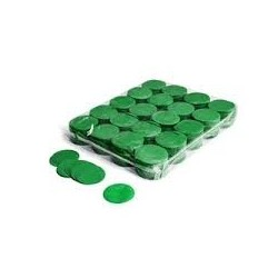 Slowfall confetti rounds 1 Kg, Ø 55mm - Dark Green, MagicFX CON02DG