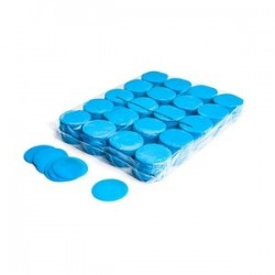 Slowfall confetti rounds 1 Kg, Ø 55mm - Light Blue, MagicFX CON02LB