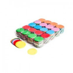 Slowfall confetti rounds 1 Kg, Ø 55mm - Multicolour, MagicFX CON02MC