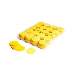 Slowfall confetti rounds 1 Kg, Ø 55mm - Yellow, MagicFX CON02YL
