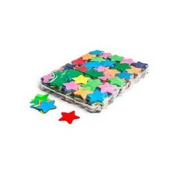 Slowfall confetti stars 1 Kg, Ø 55mm - Multicolour, MagicFX CON03MC