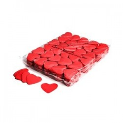 Slowfall confetti hearts 1 Kg, Ø 55mm - Red, MagicFX CON04RD