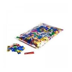 Metallic confetti rectangles 1 Kg, 55x17mm - Multicolour, MagicFX CON10MC