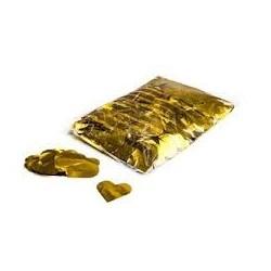 Metallic confetti hearts 1 Kg, Ø55mm - Gold, MagicFX CON15GL