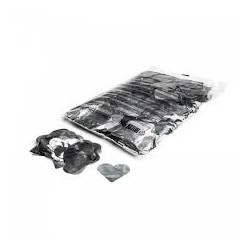 Metallic confetti hearts 1 Kg, Ø55mm - Silver, MagicFX CON15SL