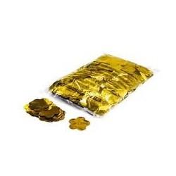 Metallic confetti flowers 1 Kg, Ø55mm - Gold, MagicFX CON16GL