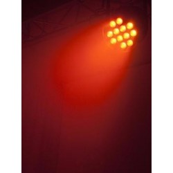 Proiector de podea cu LED PAR-64 HCL 12x10W Eurolite BLACK
