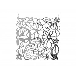 Room divider flower silver 4x EuroPalms 83313501