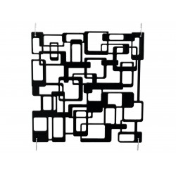 Room Divider labyrinth black 4x EuroPalms 83313523
