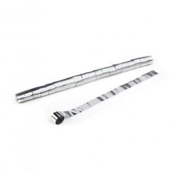 Metallic Stadium Streamers, folie 20 bucati, 20m x 2.5cm - Silver, MagicFX STR13SL