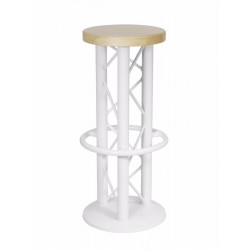 Scaun Alutruss Bar stool with ground plate white