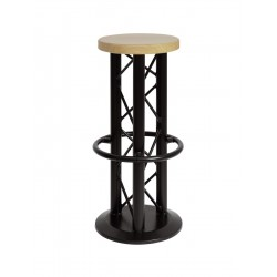 Scaun Alutruss Bar stool with ground plate black