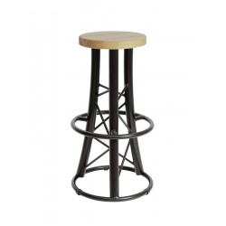 Scaun Alutruss Bar stool, curved black