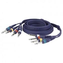 Set 4 cabluri Jack 6.3 mono la Jack 6.3 mono DAP Audio FL-20150
