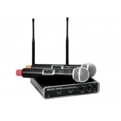 Set wireless cu receiver si 2 microfoane, Omnitronic UHF-102 828.1/864.8MHz