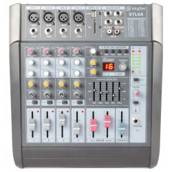 Mixer amplificat, 6 canale, player SD/USB/MP3 Skytec STL6A